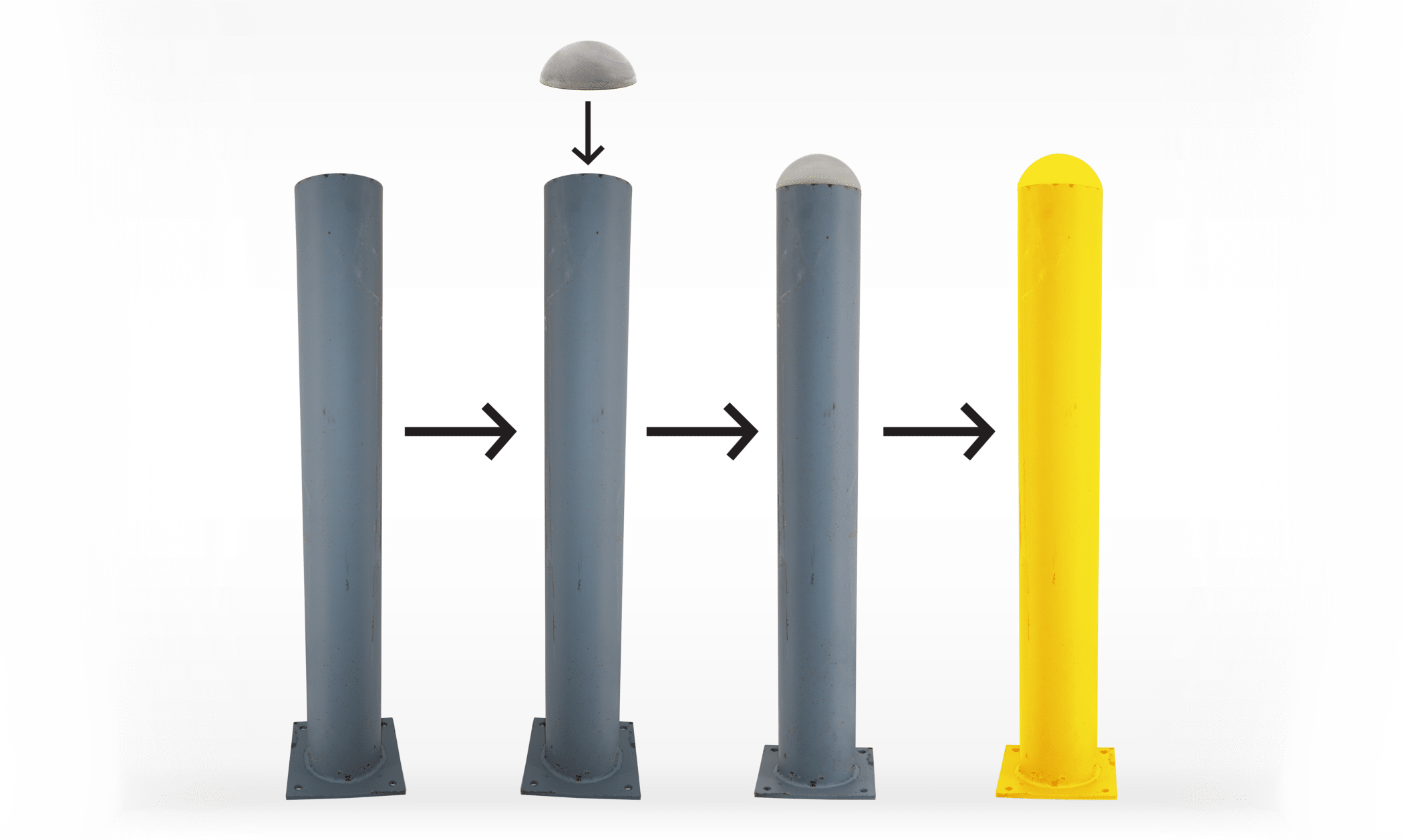 The Bollard Shop, TopGard caps, Bollards, Bollard Caps, Bollard Covers, Steel Bollards, Bollards,