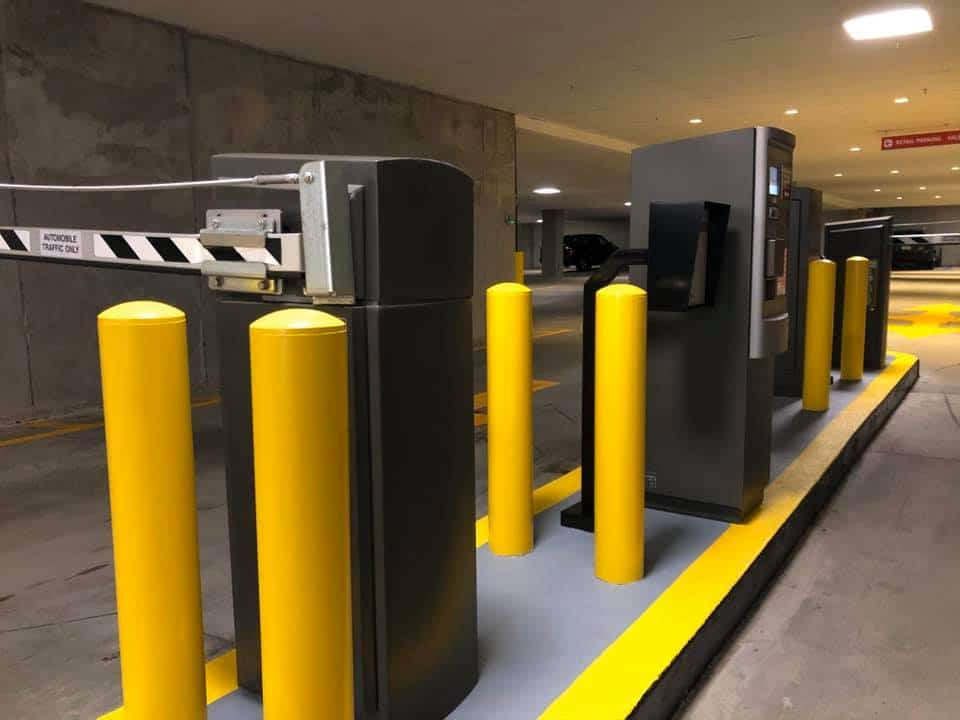 The Bollard Shop, Bollard, Bollards in Parking Garage, Bollard Caps, Bollard Covers, Steel Bollards, Bollards,