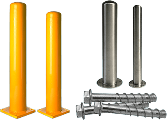 bolt down safety bollards